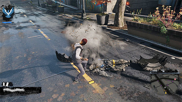 The power of Concrete can be regenerated the fastest, by draining energy from the enemies that you defeat. - Concrete - Delsins powers - inFamous: Second Son - Game Guide and Walkthrough