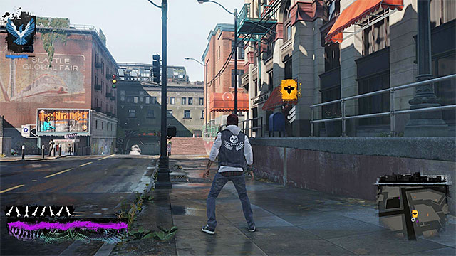 The starting point for the eighth mission of the inFamous Paper Trail - Chapter 3, part 2 - things to do in the game - inFamous Paper Trail - inFamous: Second Son - Game Guide and Walkthrough