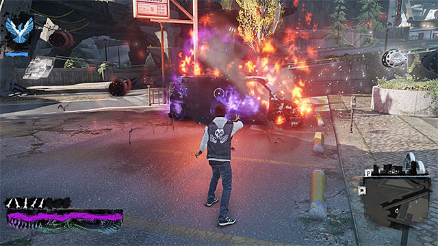 Blow up the vehicles that you find - Chapter 5, part 3 - things to do in the game - inFamous Paper Trail - inFamous: Second Son - Game Guide and Walkthrough
