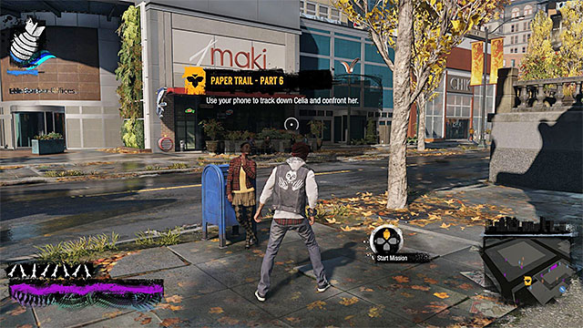The starting point for the eighteenth mission of the inFamous Paper Trail - Chapter 6, part 3 - things to do in the game - inFamous Paper Trail - inFamous: Second Son - Game Guide and Walkthrough