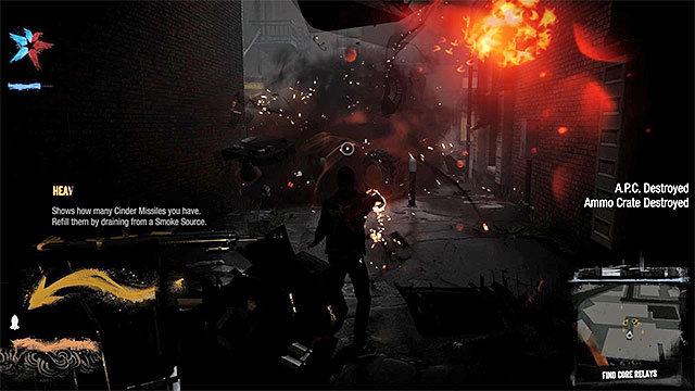 Use Cinder Missile to destroy enemy APC - 2: Catching Smoke - Walkthrough - inFamous: Second Son - Game Guide and Walkthrough