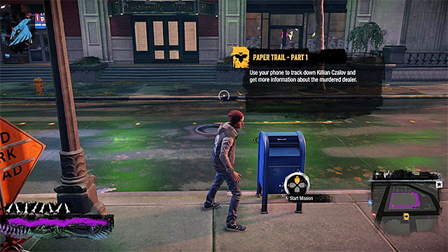 Go to the marker in the south-west corner of Paramount district and interact with it in order to enter the inFamous Paper Trail website - Chapter 1, part 2 - things to do in the game - inFamous Paper Trail - inFamous: Second Son - Game Guide and Walkthrough