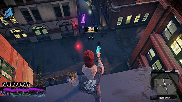 The bandits spread out in a side alley - Chapter 1, part 2 - things to do in the game - inFamous Paper Trail - inFamous: Second Son - Game Guide and Walkthrough