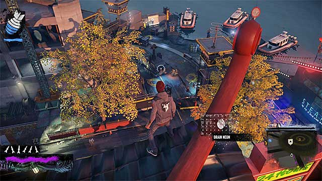 Sneak peek at the enemy base - Lantern District - more difficult activities - City - inFamous: Second Son - Game Guide and Walkthrough