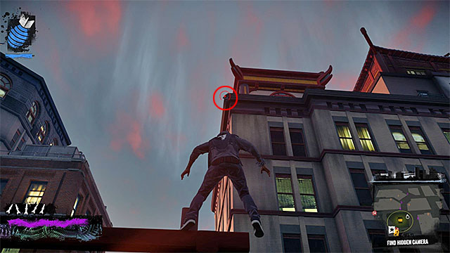 3) Hidden Camera 1 - Go to the starting point of this activity, located in the western part of the Lantern District - Lantern District - more difficult activities - City - inFamous: Second Son - Game Guide and Walkthrough