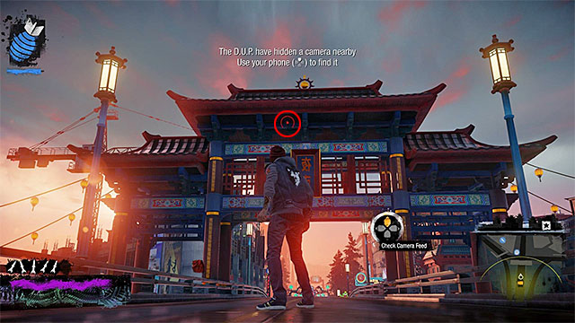 4) Hidden Camera 2 - Go to the starting point of this activity, located in the northern part of the Lantern District - Lantern District - more difficult activities - City - inFamous: Second Son - Game Guide and Walkthrough