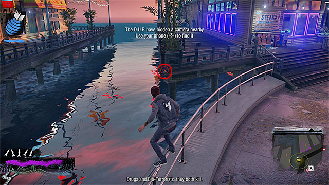 5) Hidden Camera 3 - Go to the starting point of this activity, located in the eastern part of the Lantern District - Lantern District - more difficult activities - City - inFamous: Second Son - Game Guide and Walkthrough