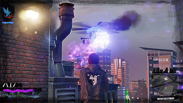 Taking the helicopter down is of the highest priority - Lantern District - District Showdown - City - inFamous: Second Son - Game Guide and Walkthrough