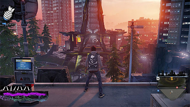 Sneak peek at the enemy base - Denny Park - more difficult activities - City - inFamous: Second Son - Game Guide and Walkthrough