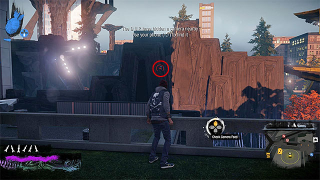 3) Hidden Camera - The camera you seek is in the place shown in the above screenshot - Denny Park - more difficult activities - City - inFamous: Second Son - Game Guide and Walkthrough