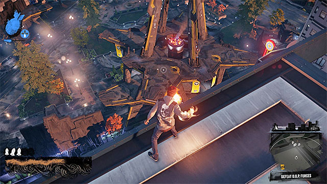 First, eliminate the enemies who are using the most powerful abilities - Denny Park - District Showdown - City - inFamous: Second Son - Game Guide and Walkthrough