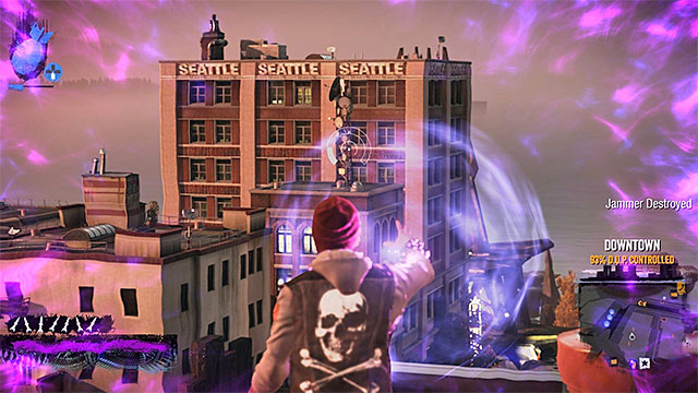 The Jammers are not well guarded - Downtown - more difficult activities - City - inFamous: Second Son - Game Guide and Walkthrough