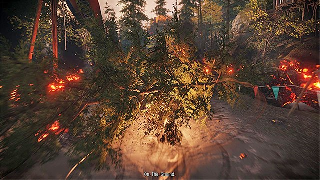 Use Smoke Dash to avoid fallen trees - Prologue: The Visitors - Walkthrough - inFamous: Second Son - Game Guide and Walkthrough