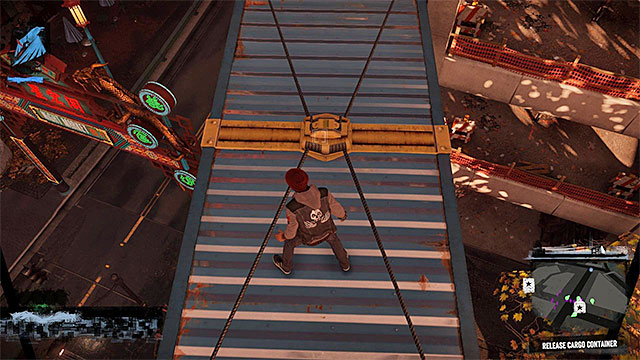After landing on the container, dont try to attack the helicopter as itd have end in death of terrorists - 13a: Flight of Angels - Walkthrough - inFamous: Second Son - Game Guide and Walkthrough