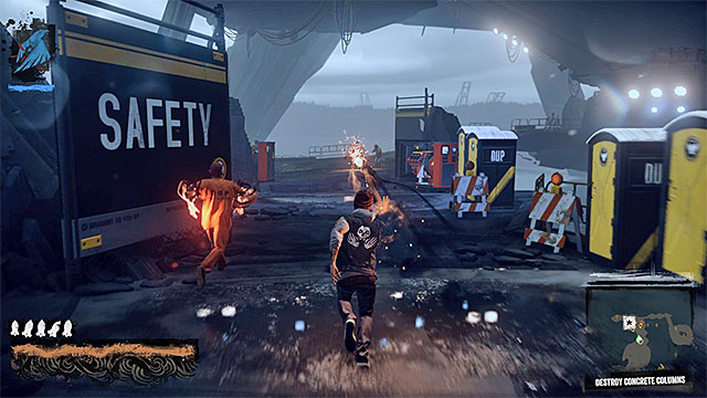 Move forward and eliminate enemies on your way. - 15: Quid pro Quo - exploration of the prison - Walkthrough - inFamous: Second Son - Game Guide and Walkthrough