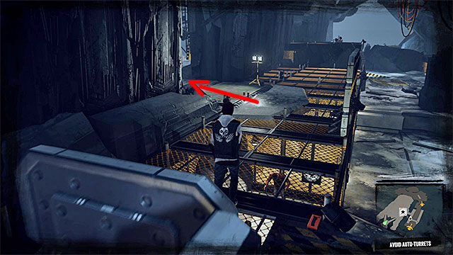 Stop at the bridge next to the cannon, wait for it to stop and then run to the other side - 15: Quid pro Quo - exploration of the prison - Walkthrough - inFamous: Second Son - Game Guide and Walkthrough