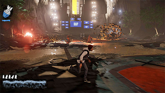 Dodge to prevent taking damage from Augustines attacks - 17a: Expose Augustine - defeating Augustine - Walkthrough - inFamous: Second Son - Game Guide and Walkthrough