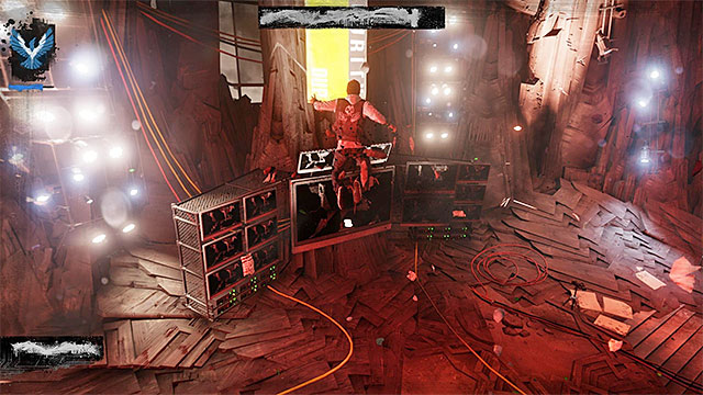 You can now move around the atrium more efficiently and remain in the air for longer - 17a: Expose Augustine - defeating Augustine - Walkthrough - inFamous: Second Son - Game Guide and Walkthrough