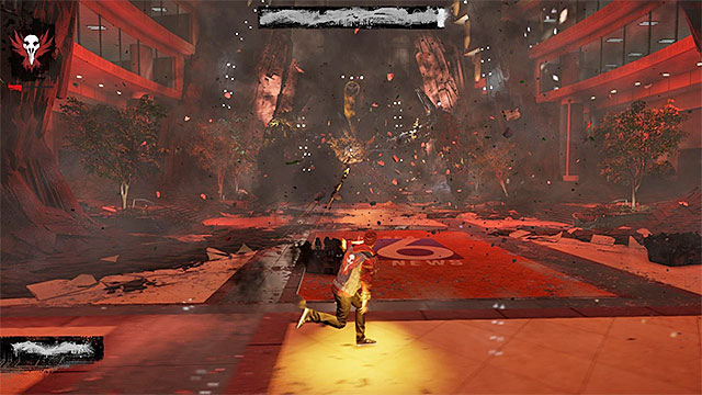 The Concrete Shrapnel allows you to launch simple ranged attack - 17b: Kill Augustine - defeating Augustine - Walkthrough - inFamous: Second Son - Game Guide and Walkthrough
