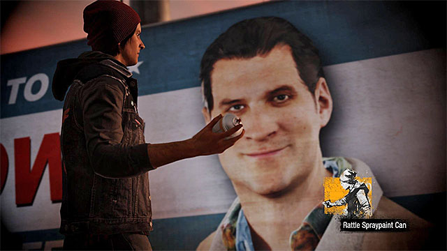 Use controller properly and paint over the billboard - Prologue: Delsin Rowe - Walkthrough - inFamous: Second Son - Game Guide and Walkthrough