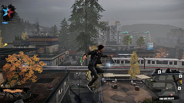 Running through the rooftops and railroad tracks is another efficient travelling method around the city. - 1. Exploration - inFamous: Second Son in 10 Easy Steps - inFamous: Second Son - Game Guide and Walkthrough