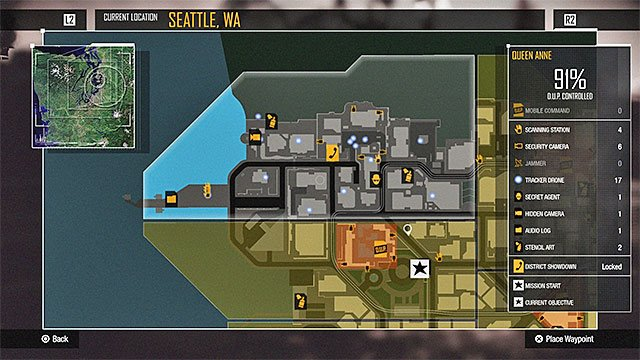 You can use the global Seattle map or rely on the indications given by the mini-map (bottom right corner of the screen). - 1. Exploration - inFamous: Second Son in 10 Easy Steps - inFamous: Second Son - Game Guide and Walkthrough