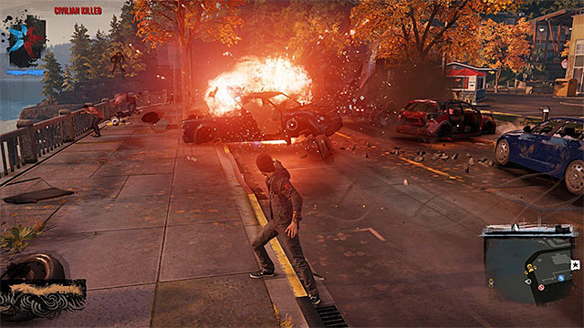 Destroying the elements of the environment is frequently beneficial while dealing with the enemy. - 2. Combat - inFamous: Second Son in 10 Easy Steps - inFamous: Second Son - Game Guide and Walkthrough