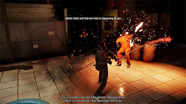 Attack Hank using the chain - Hank - Boss fights - inFamous: Second Son - Game Guide and Walkthrough