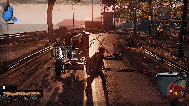 Another threat is Auto Turret - Market District - more difficult activities - City - inFamous: Second Son - Game Guide and Walkthrough