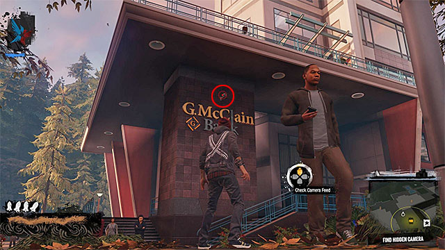 3) Hidden Camera - The camera you're looking for is located in the place shown on the above screen - Paramount - more difficult activities - City - inFamous: Second Son - Game Guide and Walkthrough