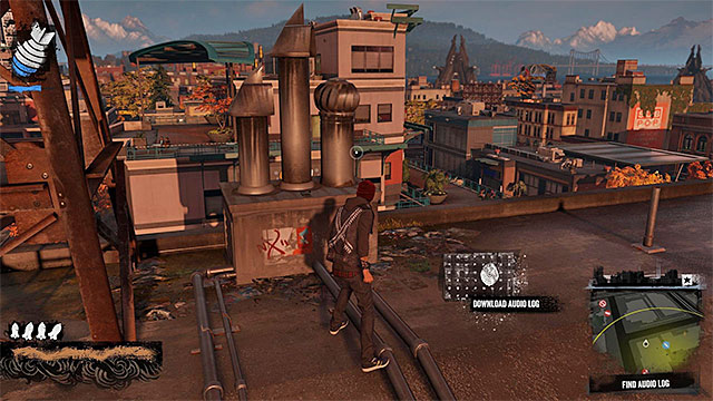 5) Audio Log 2 - Start in southern part of Paramount district - Paramount - more difficult activities - City - inFamous: Second Son - Game Guide and Walkthrough