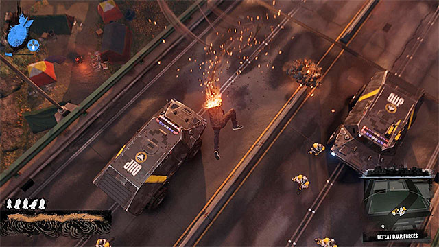 Attack enemies on the highway with rockets and ground hits - Pioneer Square - District Showdown - City - inFamous: Second Son - Game Guide and Walkthrough