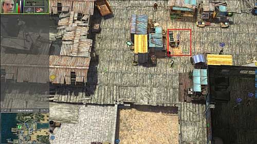 In the northern west part of this map, on the marketplace you find Sanjay - Yadong harbor [1] - Secondary missions - Jagged Alliance: Crossfire - Game Guide and Walkthrough