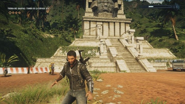 The ancient statues head is in the center of the location - Tomb Tumba De Las Esposa - Tomb Locations - Just Cause 4 Guide