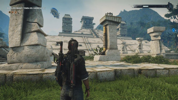 When you reach the tomb, you will immediately see the head of the statue placed on top of the ruins - Tomb Tumba Del Guerrero - Tomb Locations - Just Cause 4 Guide