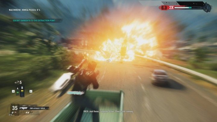 You will be constantly attacked by enemies while driving - Behind the Lines | Sargento Missions walkthrough for Just Cause 4 - Sargento Missions - Just Cause 4 Guide
