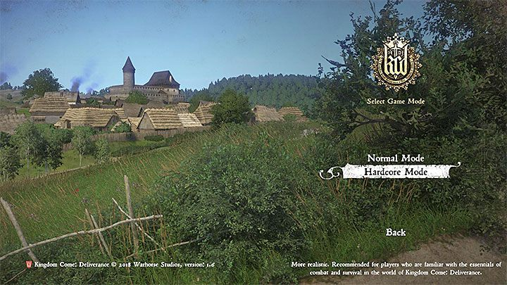 You cant switch to hardcore mode if you are currently during a playthrough - How to complete the game in hardcore mode in Kingdom Come? - From the Ashes DLC - Kingdom Come Deliverance Game Guide