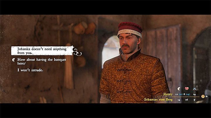 Find the Custodian called Sebastian von Berg in the monastery (usually he can be found in the northern building) and speak with him - Sasau | Side quests in Kingdom Come Deliverance - Side quests - Kingdom Come Deliverance Game Guide