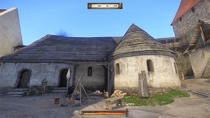 Infirmary is the western building that is adjacent to the place where Brother Nicodemus works (that person is marked as an herbalist on the map) - Sasau | Side quests in Kingdom Come Deliverance - Side quests - Kingdom Come Deliverance Game Guide
