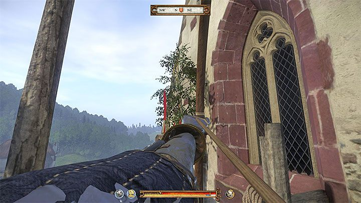 In order to obtain the Topping-out (the branch), you must reach the construction site located in the Sasau Monastery - Sasau | Side quests in Kingdom Come Deliverance - Side quests - Kingdom Come Deliverance Game Guide