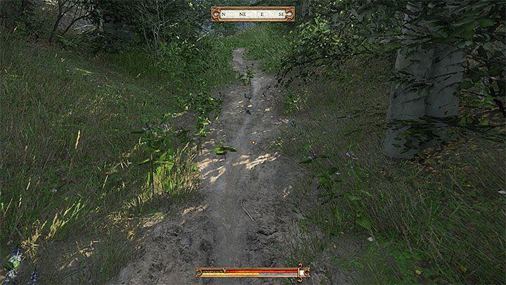 Now go back slightly to the north and find the narrow path that leads to the east - Treasure IV | Treasure maps in Kingdom Come Deliverance - Treasure maps - Kingdom Come Deliverance Game Guide
