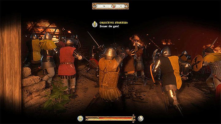 This battle has similar rules to the assault on Pribyslavitz that happed during one of the previous quests - Payback | Main quests in Kingdom Come Deliverance - Main quests - Kingdom Come Deliverance Game Guide