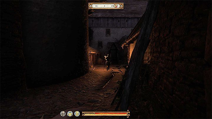 On the right from the bandits you can find stairs that lead down - Night Raid | Main quests in Kingdom Come Deliverance - Main quests - Kingdom Come Deliverance Game Guide