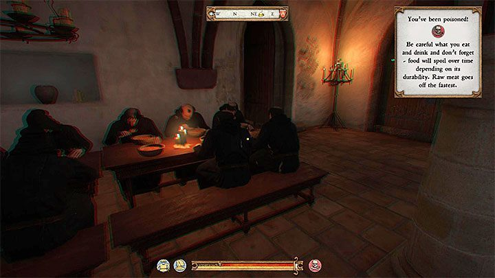 You must now advance in the schedule of the day to the point in which Henry goes to the dining room to eat (either in the morning or in the evening hours) - A Needle in a Haystack | Main Quests Kingdom Come - Main quests - Kingdom Come Deliverance Game Guide