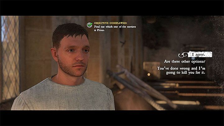 You will wake up in the dormitory and will learn that Antonius/Pious is the one who poisoned Henry - A Needle in a Haystack | Main Quests Kingdom Come - Main quests - Kingdom Come Deliverance Game Guide
