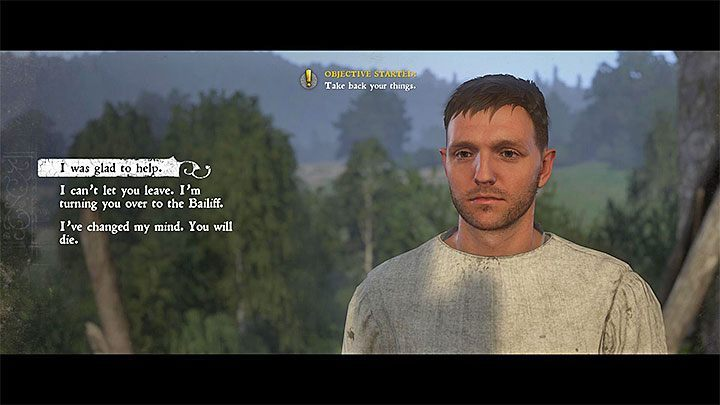 If you helped Pious / Antonius in faking his own death and if you escaped together from the monastery, you must decide about his future - A Needle in a Haystack | Main Quests Kingdom Come - Main quests - Kingdom Come Deliverance Game Guide