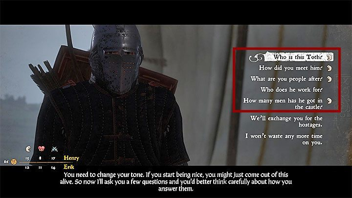 You can take the opportunity to renew your strength and repair your equipment - Cold Steel, Hot Blood, Family Values | Main quests in Kingdom Come Deliverance - Main quests - Kingdom Come Deliverance Game Guide