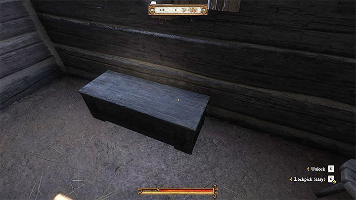 Acquiring the hammer and nails will be a bit more difficult, as they are contained in a locked chest inside Kuneshs hut - Unexpected Visit | Main quests in Kingdom Come Deliverance - Main quests - Kingdom Come Deliverance Game Guide