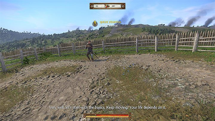 Speak with Combat Master Vanyek in the village and then meet him at the practice ring to the left of the castle - Unexpected Visit | Main quests in Kingdom Come Deliverance - Main quests - Kingdom Come Deliverance Game Guide