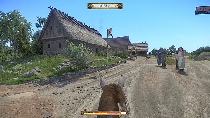 Get closer to a pole after reaching a checkpoint - Henry will automatically get a ribbon (you dont have to get off your horse or to press the interaction button) - Neuhof | Side quests in Kingdom Come Deliverance - Side quests - Kingdom Come Deliverance Game Guide